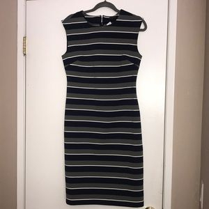 Banana Republic Sheath dress stripes
